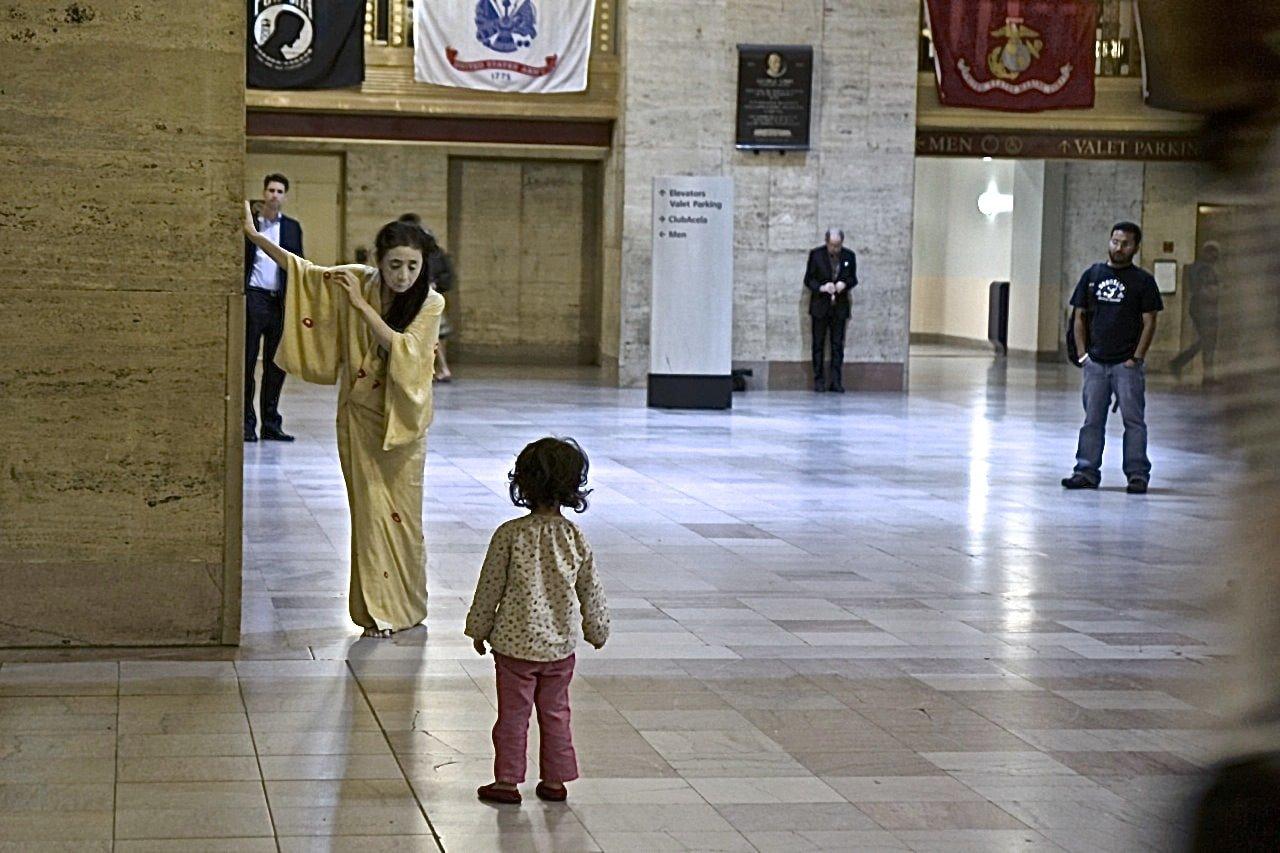 Eiko Otake, A Body in a Station. Photo by William Johnston.