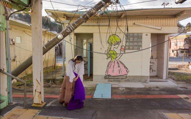 Eiko Otake, A Body in Fukushima. Photo by William Johnston.