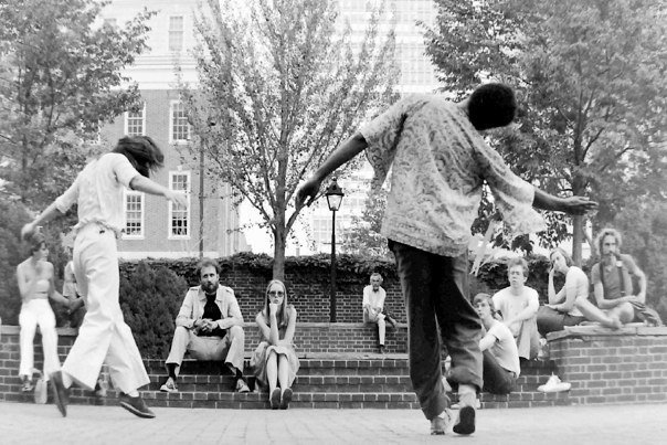 Young Ishmael Houston-Jones and Terry Fox